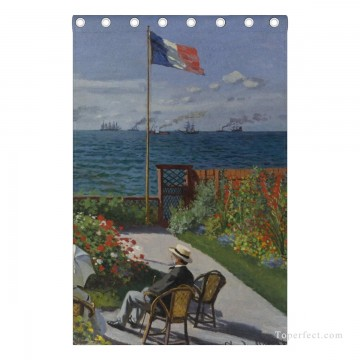 Personalized Curtain for Door Window Draperies Thick Blackout 2 Panels Wall Art Hanging Garden at Sainte Adresse by Monet USD55 7 4 Oil Paintings